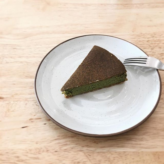 One matcha cheese cake that I'll never forget .