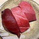 Maguro Zanmai _ Three kinds of Tuna sushi -  Akmai, Chutoro, Otoro _ #sqtop_japanese  #sqtop_sushi #sqtop_maguro  #burpple #burpplesg