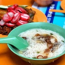 Rickshaw Mee Sua & assorted Five Spice Ngoh Hiang or Fritters _ The mee sua is a traditional comfort food for the rickshaw pullers.