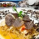 Winter Truffle Set Menu (Summer Pavilion, 28/12/2019) New Year Weekend Lunch  _ 黑松露阿拉斯加蟹焖银丝面 Braised Hong Kong Noodles, Alaskan Crab Meat, Winter Truffle.