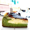 Burnt Matcha Cheesecake  _ Nice balance of matcha and cheese.