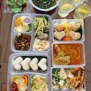 Bento lunch delivery from Kueh Ho Jiak @kueh_ho_jiak an UNESCO award winner.