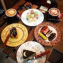 Dessert extravaganza and caffeine high.