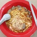 Prawn Noodle With Intestine Soup