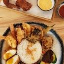 1 for 1 Nasi Supreme /$9.90 only / tempura nasi lemak / comes with various tempura sides / 👍👍 #instafood #foodporn #food #foodie #sgfood  #nasilemak #allthewaytothewest #tempurafood #burpple