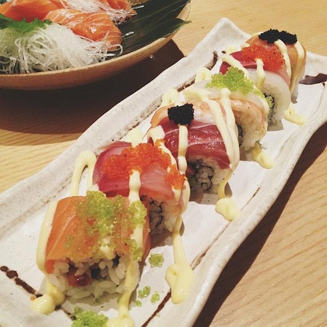Le rainbow roll #sushi