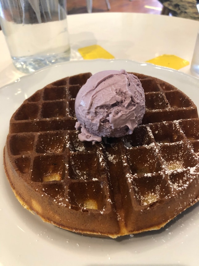 Lavender Ice Cream And Waffles