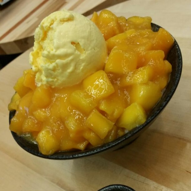 mango bingsu at $15.90