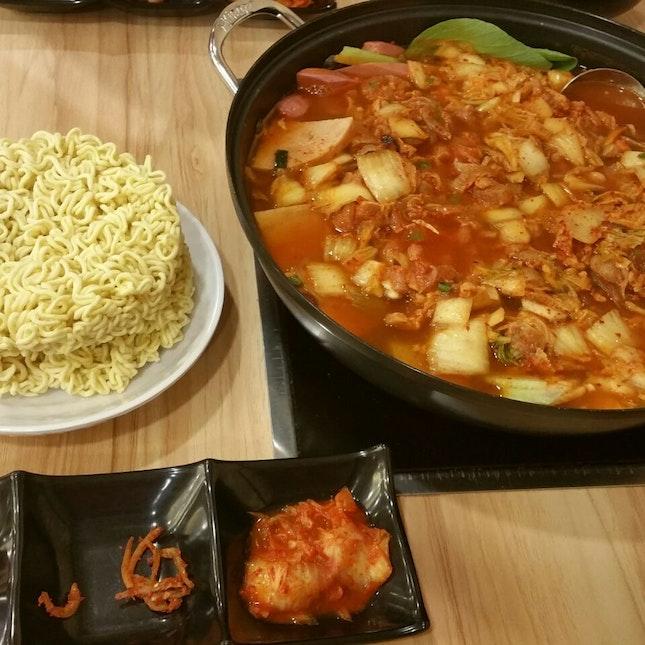 $29.90 kimchi chicken hot pot