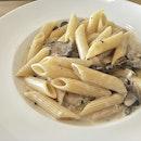 $8 truffle mushroom cream pasta