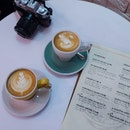 Mocha And Flat White Coffee