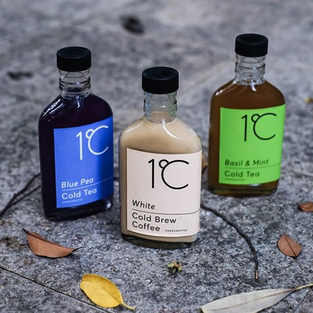 Trying out @1degreec_coldbrew handcrafted cold brew coffee and cold tea.
