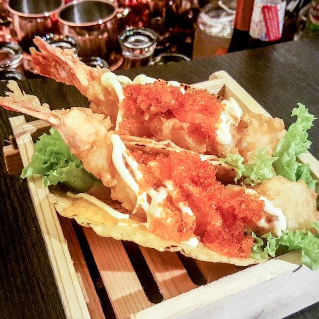 Ebi Tempura Taco ($15)