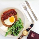Yummy rosti with bacon and sunny side up ($7.50) from @humbleoriginscafe!