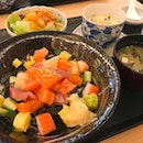 Bara chirashi don Tori sashimi gozen Lunch set at Kyoaji starting from $18 Their food is very fresh and delicious, Enjoy their opening promotion 20% off until end of june!