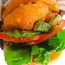 avocado fish burger