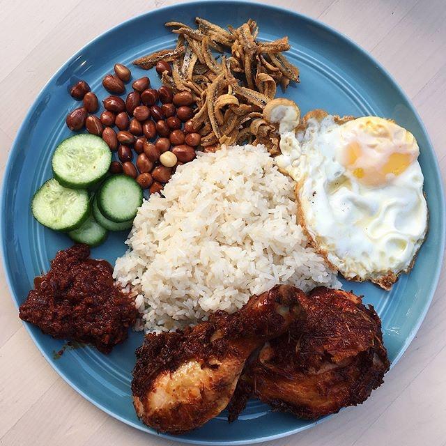 Nasi Lemak Ayam Goreng Berempah from The Coconut Club.