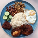 Nasi Lemak Ayam Goreng Berempah from The Coconut Club.