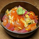 The Early Fatback: Mini Chirashi Don from The Flying Squirrel's Saturday brunch buffet (@theflyingsquirrelsg).