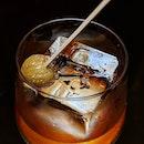 Fatback Ears Down: Donkey Kong (Monkey Shoulder, Ramazzotti, Hazelnut Syrup, Chestnut Candy, Palo Cortado) from the new cocktail menu at Anti:Dote (@antidotebar), Fairmont Singapore (@fairmontsingapore).