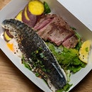 The Early Fatback: Oyster Blade Steak and Saba from Wafuken (@wafuken).