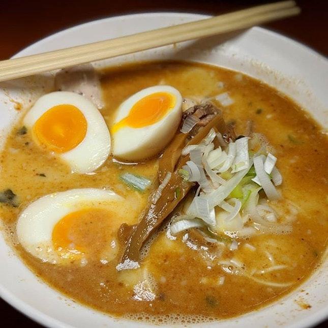 Salted Egg Yolk Tonkotsu Ramen DX from Ramen Taisho, Maxwell Food Centre (@ramen.taisho).