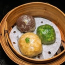 The Early Fatback: 3 Treasures Teochew Crystal Dumplings (Red Bean, Chives, Original) from Bao Today (@baotodaysg).