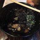 Rewarding my stomach with a Jet Black Ramen after a long day at work  #squidink #ramen #japanese #tonkotsu #circularroad #rafflesplace #dinnerafterwork#burpple #burpplesg