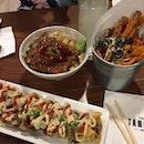 Feasting #tanuki #sweetpotatofries #don #maki #japanese #fusion #bugis #burpple #burpplesg