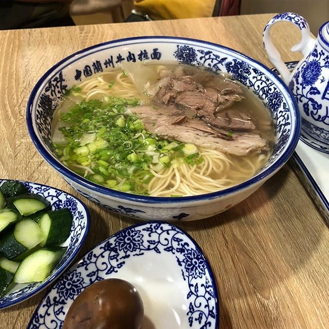 Authentic Lanzhou Beef Noodle 😋 #burpple #burpplesg #tiongbahru