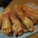 Honey Crispy Wings ($10) Tasty like Korean fried chicken!
