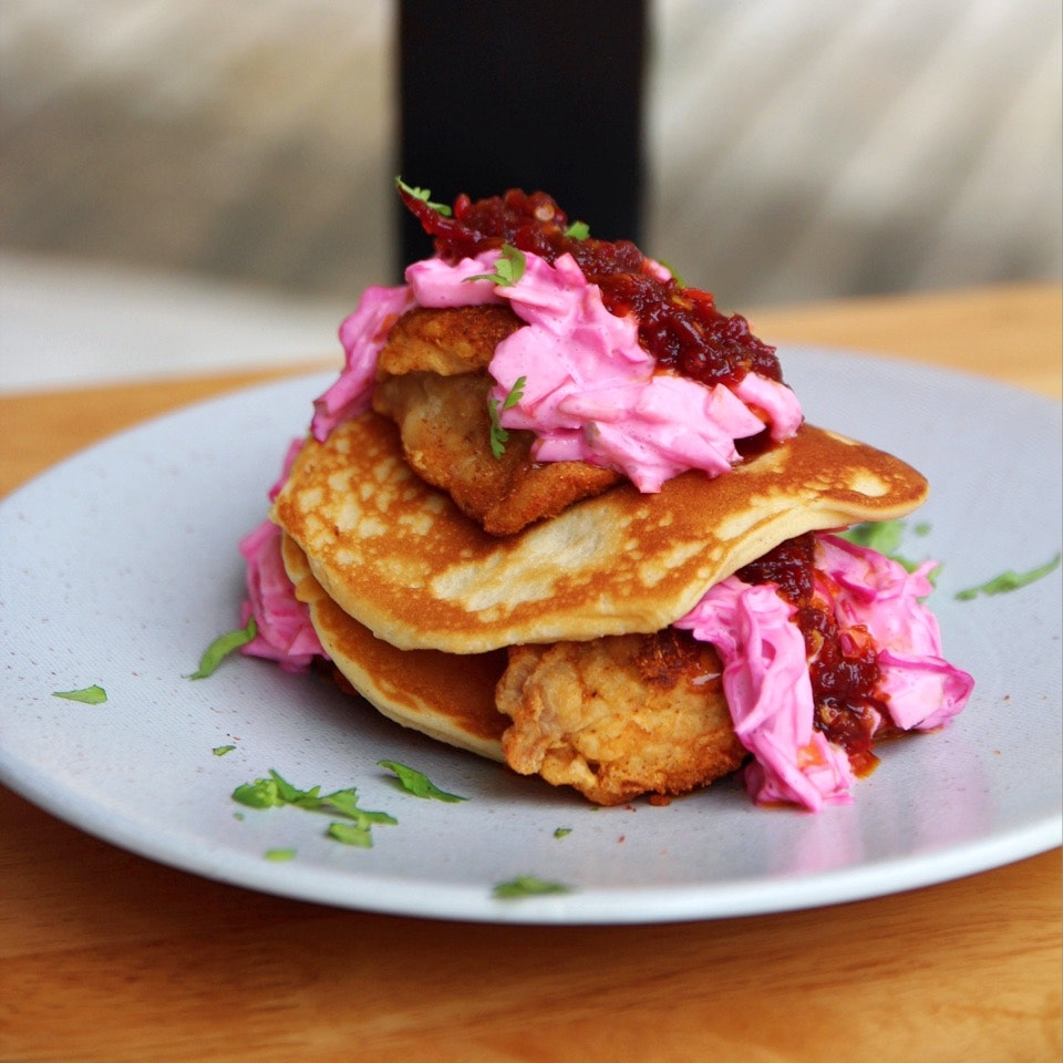 Fried Chicken & Waffles/Pancakes