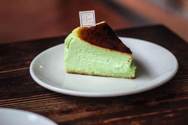 Didn't think I'd enjoy a pandan cheesecake, but man did I wolf this down.