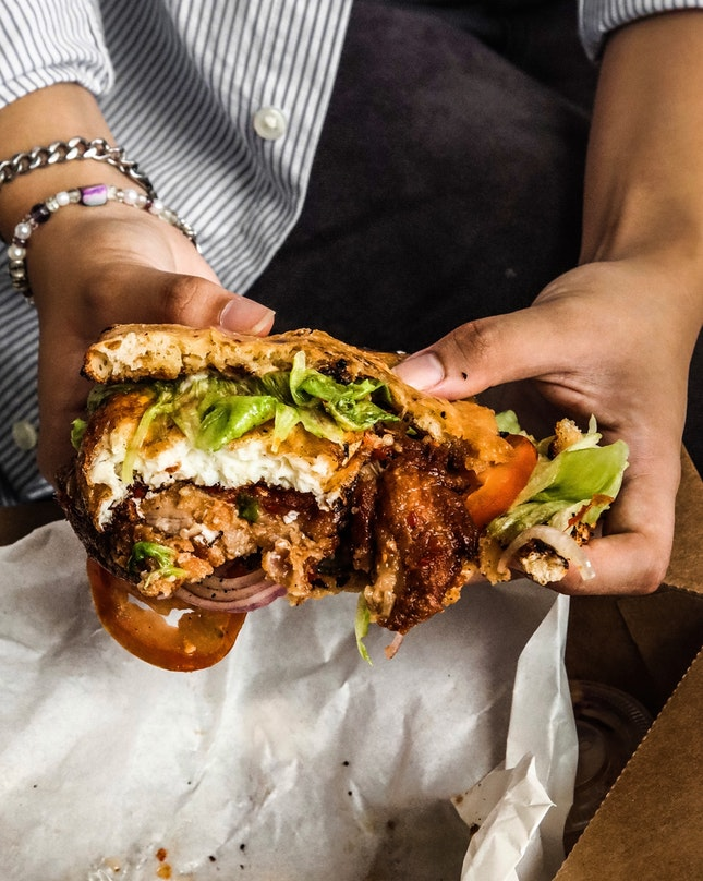 A very good interpretation of HCG in a sandwich.