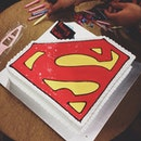 Ah gong's bday cele and guess who's superman?
