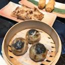 Vegetarian Dumpling With Mushrooms & Truffle ($4.80++), Radish Roll With Chicken, Button Mushrooms & Cheese ($4.80++, 2 Pcs), Radish Cake ($4.80++, 3Pcs)