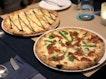 Quattro Formaggi ($26++U.P.), Prosciutto & Asparagus ($32++ U.P.)