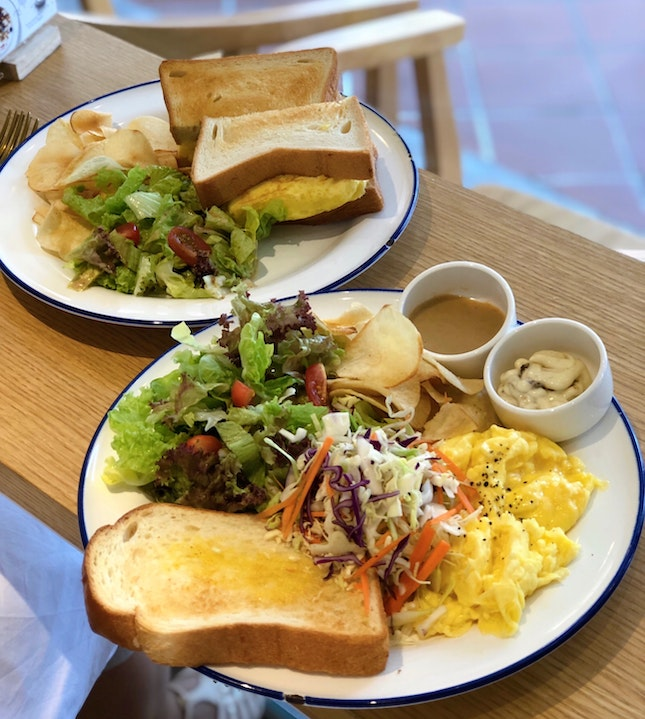 Tamago Sando ($13+ U.P.), Scrambled Eggs Toast ($15+ U.P. ) Both On Burpplebeyond
