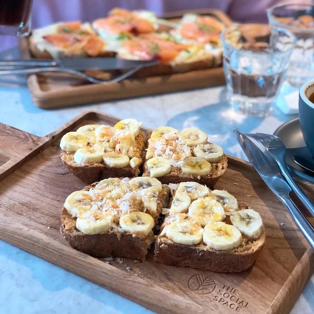 Banana Peanut Butter Double Toast ($12 Nett U.P.); On Burpplebeyond