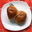 Yam Bun, Hot Cross Bun, Butter Sugar Roll [Not Pictured] (Total: $2.60)