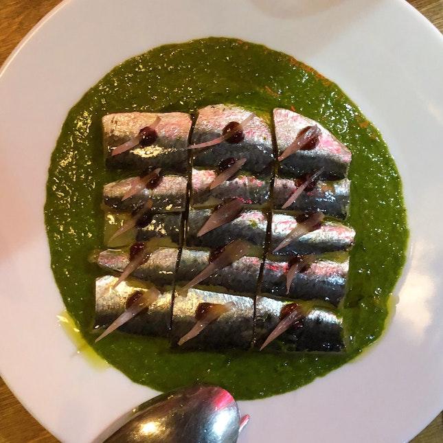 House Cured Spanish Sardines ($25++)