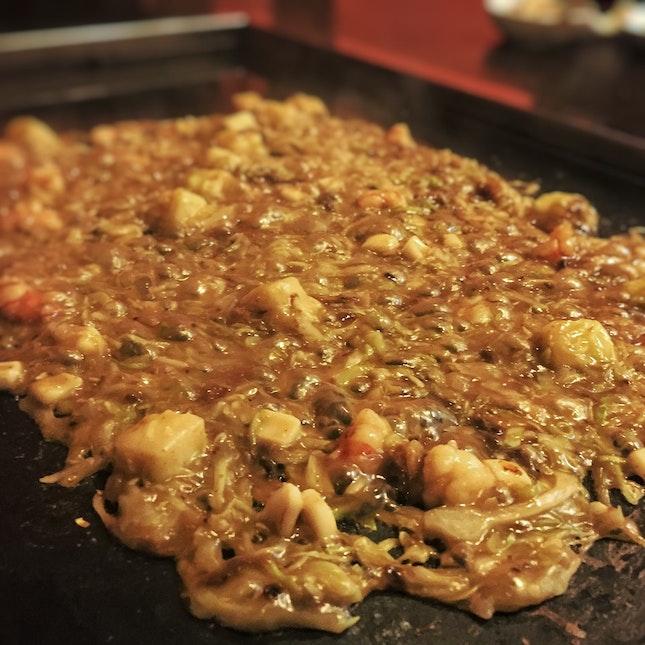 Monjyayaki ($14 for seafood)