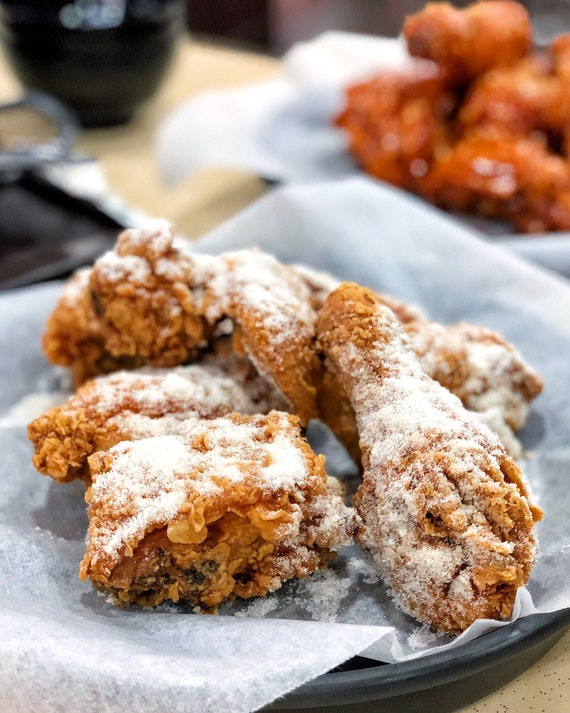 Honey Butter Korean Fried Chicken ($13 for half a chicken, $25 for a whole chicken)