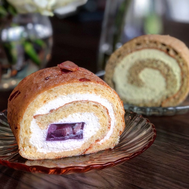 Swiss Rolls ($5.90/$6.90) - Ispahan and Matcha