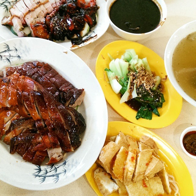 Roasted Duck, Roasted Pork And Barbecued Pork