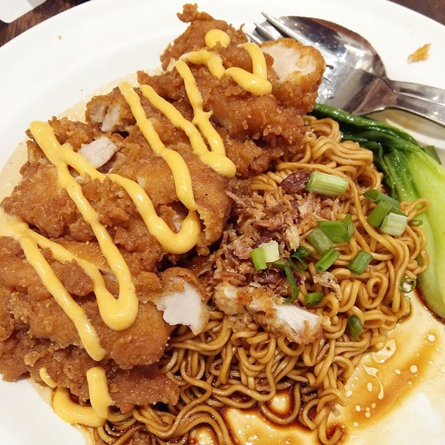 Cheesy Chicken Chop Noodle.