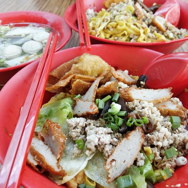 Ba Chor Mee/Minced Meat Noodles