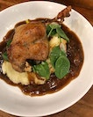 Duck Confit with Truffle Mash ($18) .