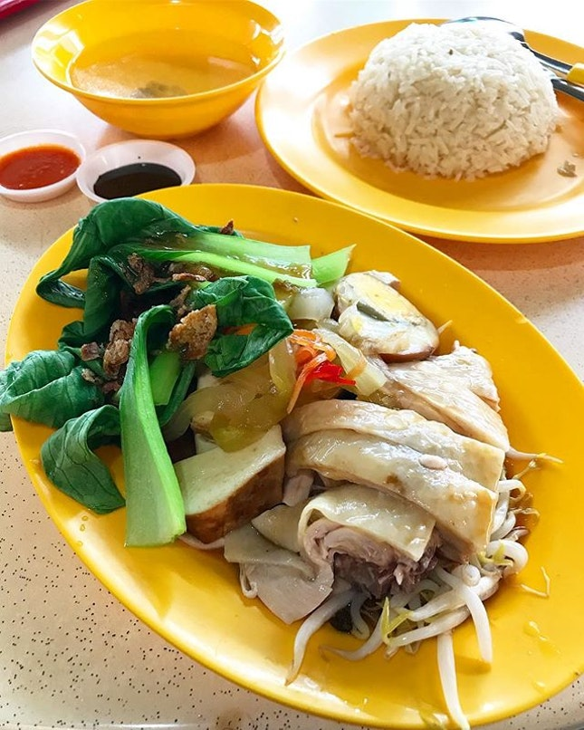 Chicken Rice Set Meal ($6.50) .