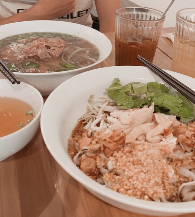 Dry Chicken Pho And Beef Pho